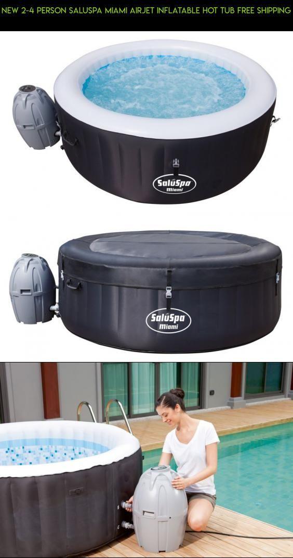 New 2 4 Person Saluspa Miami Airjet Inflatable Hot Tub Free