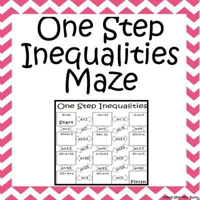 Worksheets Multi Operational Mathematical Maze maze products and mathematics on pinterest