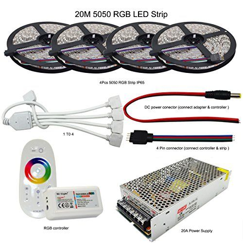 Rgb Led Strip 5050 Smd Flexible Light Dc 12v 60ledm Strip Lamp Mi Light 24g Rgb Led Controller 20a Power Adapter Rgb Led Strip Lights Waterproof Led Rgb Led