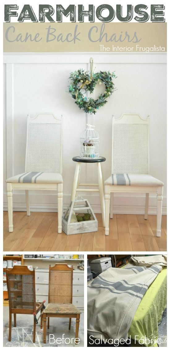Two thrift store chairs get a Farmhouse makeover for Themed Furniture Makeover Day!: