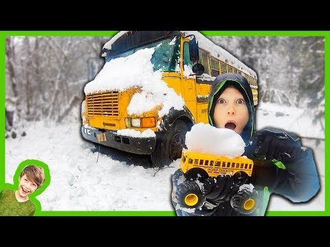 Monster Truck Abandoned School Bus Rescue Mission Youtube School Bus Monster Trucks Trucks