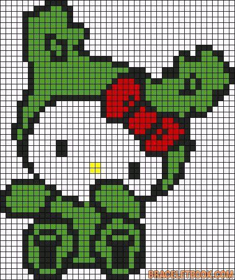 Hello Kitty, Kitty And Perler Bead Patterns On Pinterest