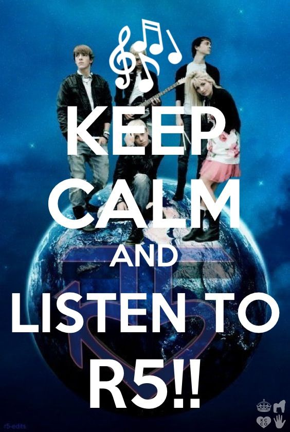 R5 sooo true their music calms me down except 4 the part of me getting up and dancing and singing 2 their music lol