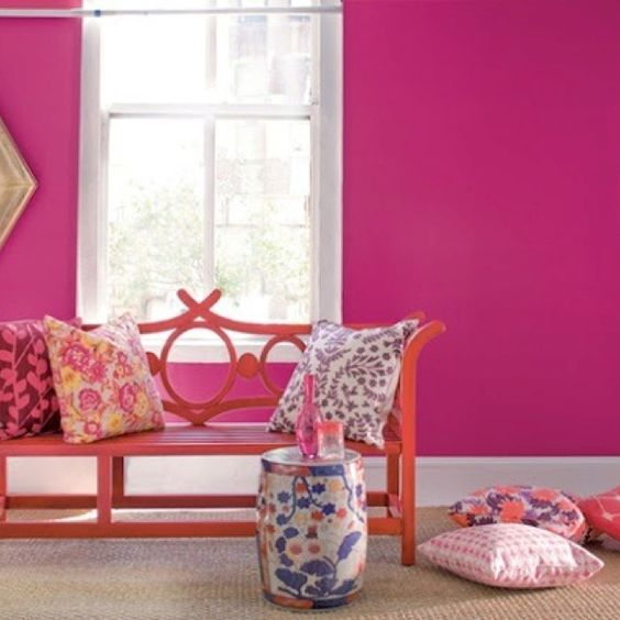 Pink walls  Home  Pinterest  Pink Walls and Pink