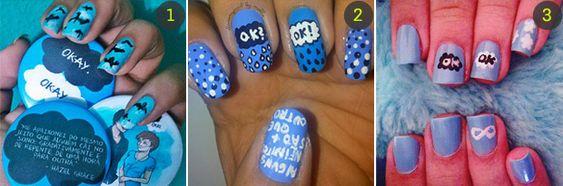Esmalte das leitoras: nail art inspirada em A Culpa é das Estrelas <3 - Beleza - CAPRICHO