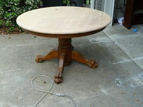 a few good pieces...: claw-foot table
