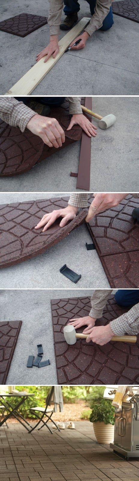 Decorative Patio Tiles Interesting How To Recover Your Patio With Envirotile  Diy Home Decor Decorating Design
