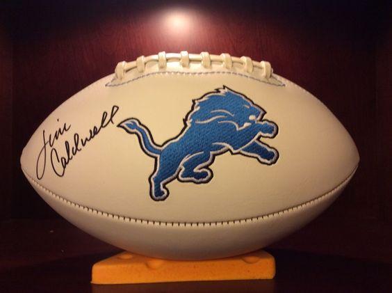 Detroit Lions Autographed Football autographed by Head Coach Jim Caldwell…