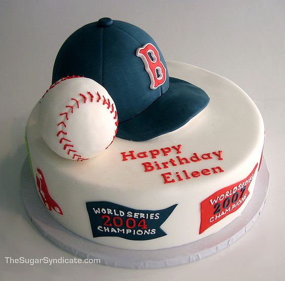 Boston Red Sox Birthday Cake by The Sugar Syndicate - this cake is awesome!