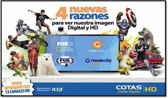 Ahora CotasCable Digital con 13 canales full HD