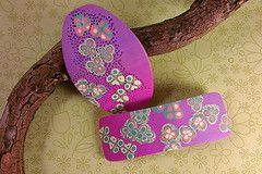 pink/purple blended barrettes (myriadbeads) Tags: pink purple handmade polymerclay barrette hairaccessories