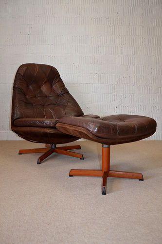 60er danish modern teak sessel hocker bramin easy chair. Black Bedroom Furniture Sets. Home Design Ideas