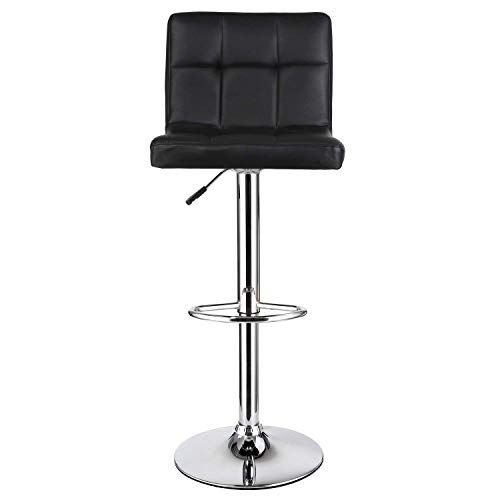 Tyuio Bar Stools Set With Backrest Leatherette Exterior Height