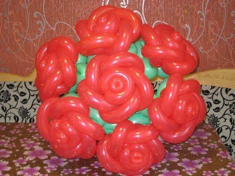 Роза из воздушных шаров (Rose from balloons) - YouTube