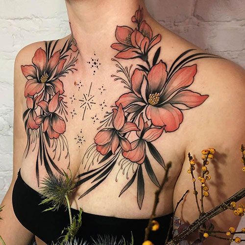 101 Best Chest Tattoos For Women 2020 Guide In 2020 Chest Tattoos For Women Cool Chest Tattoos Chest Piece Tattoos