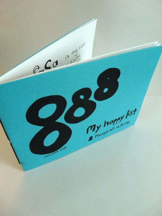888 zine -- my life's happy list