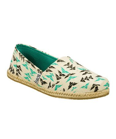 Look at this #zulilyfind! Natural & Turquoise Heart Twiggy Slip-On Shoe by BOBS from Skechers #zulilyfinds