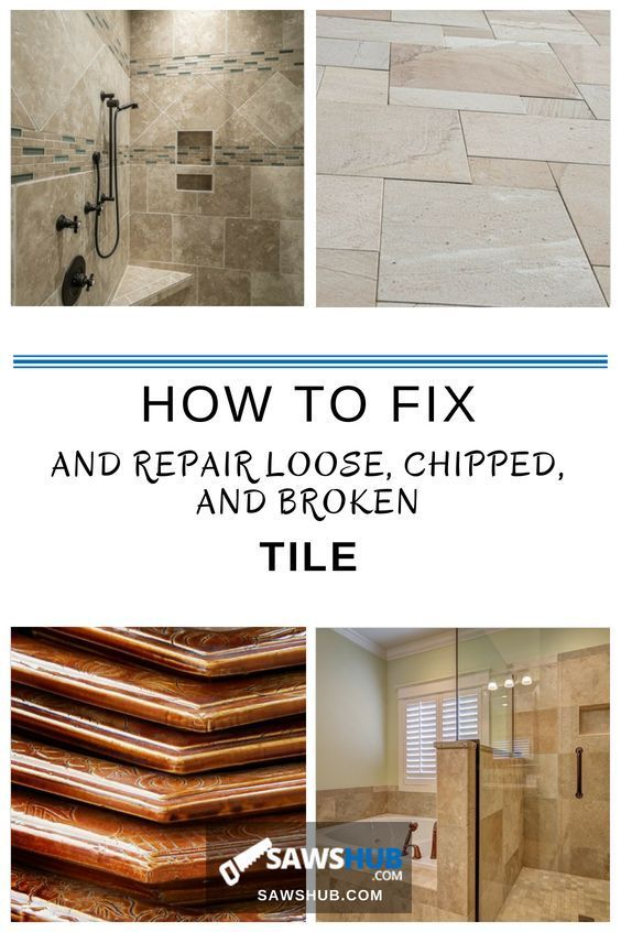 How To Fix And Repair Loose Chipped And Broken Tile Bathroom Tile Diy Tile Repair Bathroom Remodel Tile