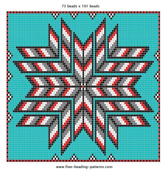 Free Native American Beadwork Patterns   Native American Beading Pattern   2 Feathers Trading Post