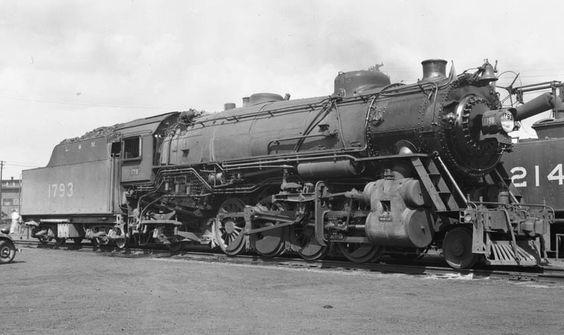 L&N RR 2-8-2 locomotive #1793