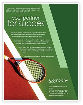 Nice green colored tennis rackets flyer template http for Nice brochure templates