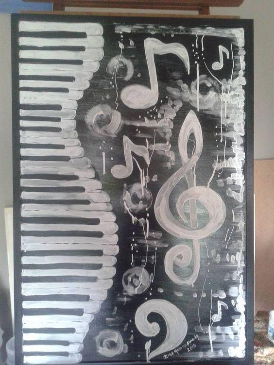 Quadro de 0,94 X0,64 ,nome musica,feito em novembro de 2014,por ilsa Helena Almeida