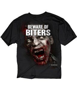 The Walking Dead Beware of Biters Mens T-Shirt Black X-Large @ niftywarehouse.com #NiftyWarehouse #WalkingDead #Zombie #Zombies #TV