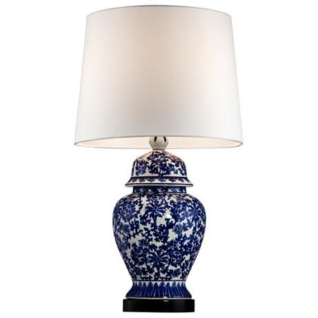 jar lamp ginger jars and blue and white on pinterest. Black Bedroom Furniture Sets. Home Design Ideas
