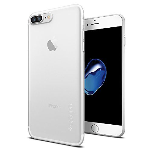 iPhone 7 Plus Case Spigen [Air Skin] Ultra-Thin [Soft Clear] Premium Semi-transparent Lightweight / Exact Fit / NO Bulkiness Hard Case for iPhone 7 Plus (2016)  (043CS20499)
