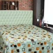 Cobertor Avulso Solteiro em Microfibra 300 g/m² - Geométrico Fundo Cinza - Sultan