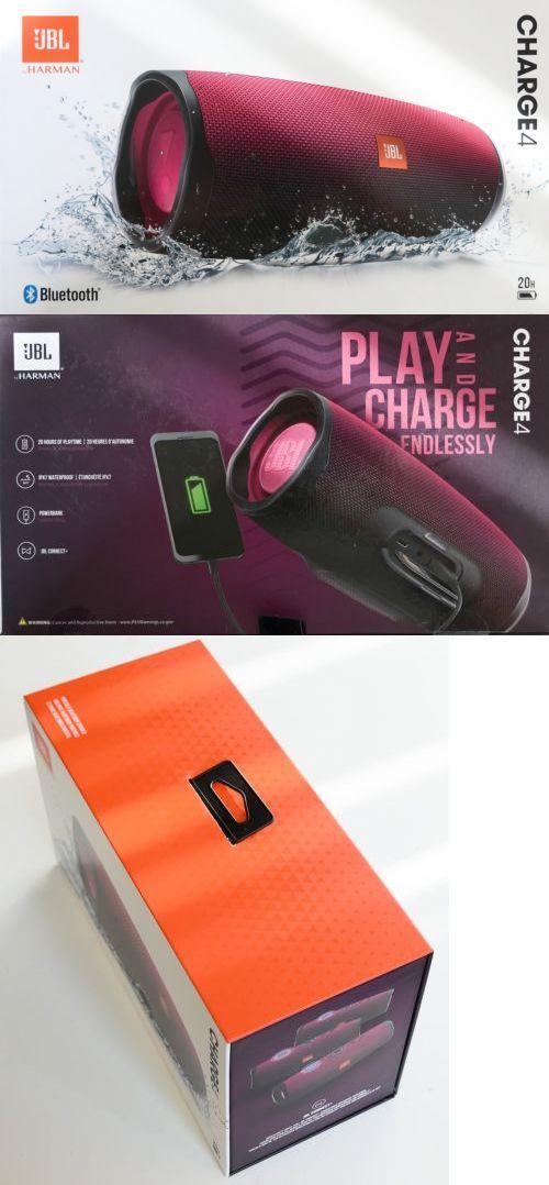 Audio Docks And Speakers 132297 Jbl Charge 4 Portable Bluetooth Speaker Magenta Jblcharge4mgt Buy It Now Only Bluetooth Speakers Portable Bluetooth Speaker