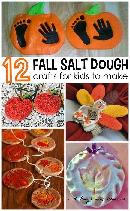 Fall salt dough ornaments and craft ideas for kids to make! (Find pumpkins…