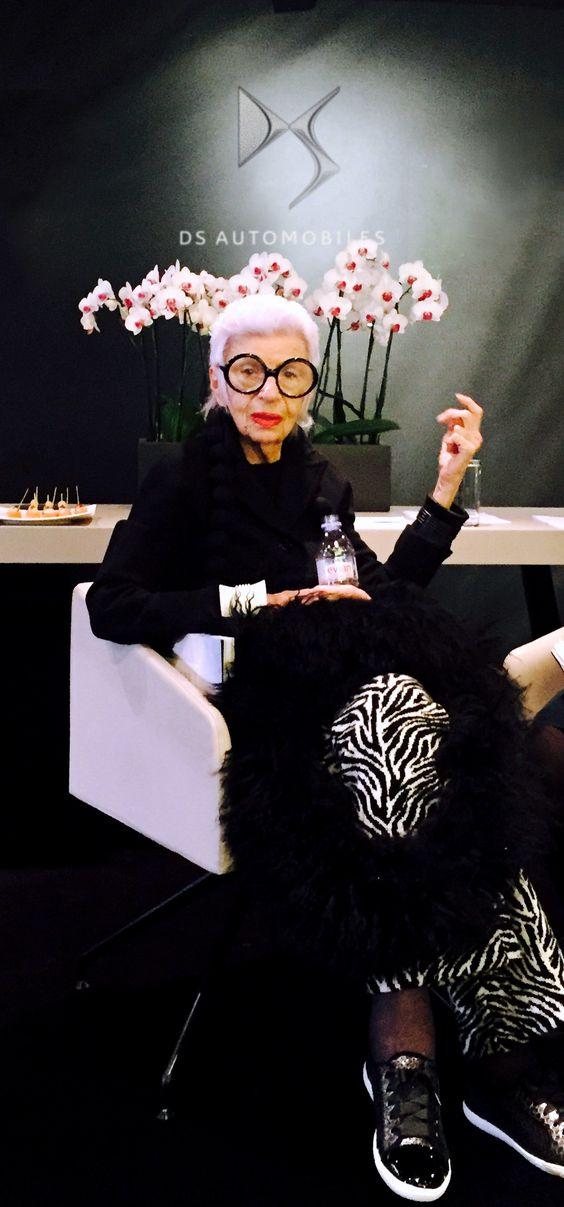Iris Apfel, Nouvelle ambassadrice DS Automobiles au DS World Paris !