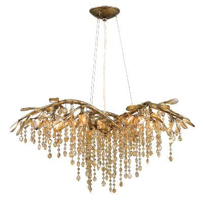 Mystic Gold - Mid. Chandeliers Other Golden   LIGHT`N UP!
