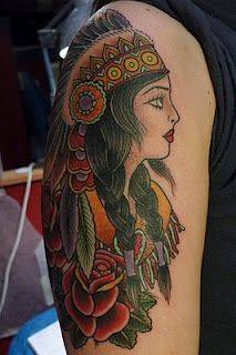 Indian princess tattoo.. stunning