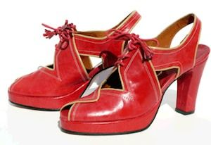 vintage shoes from the 1940's
