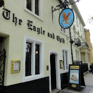 The Eagle and Child pub- Oxford, England. Where C.S. Lewis, J.R.R. Tolkien, and other giants of 20th century literature met every Tuesday.