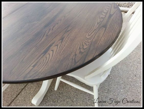 dining room table set in spanish oak and limestone, painted furniture, repurposing upcycling