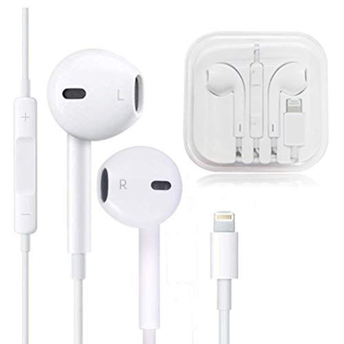Cafetec Earbuds Microphone Earphones Stereo Headphones Noise Isolating Headset Compatible With Iphone Xs Xs Max Xr X 8 8 Plus 7 7 Plus Earphones White 1 Pack Stereo Headphones Headphones Apple Headphone
