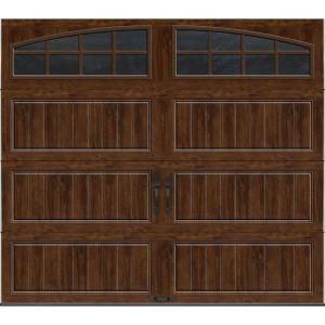 Gallery collection 8 ft x 7 ft 18 4 r value intellicore for Clopay gallery ultra grain walnut
