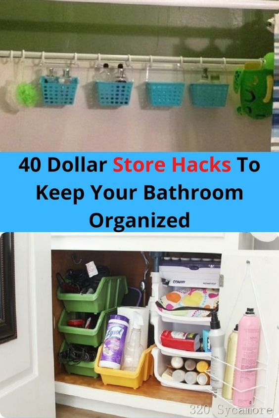 40 Dollar Store Hacks To Keep Your Bathroom Organized In 2020 Useful Life Hacks Good Jokes Dollar Store Hacks