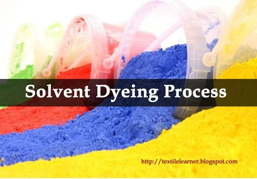 Solvent Dyes Solvent Dyeing Process Process
