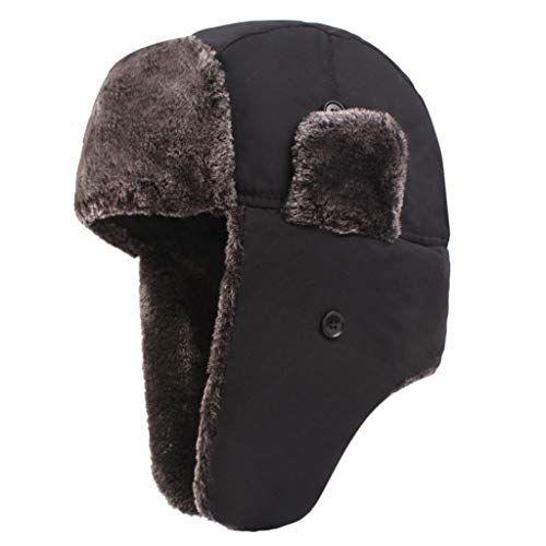 Mens Winter Trooper Hat Lumberjack Ushanka Ear Flap Chin Strap Windproof Mask Newsboy Cap Earmuffs Men Winter