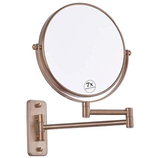 Bestill 8 Inch Two Sided Swivel Wall Mount Makeup Mirror With 7x