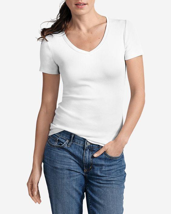 Women's Favorite Short-sleeve V-neck T-shirt | Eddie Bauer