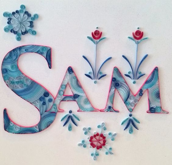 Quilling - Custom Name Wall Hanging, Sam