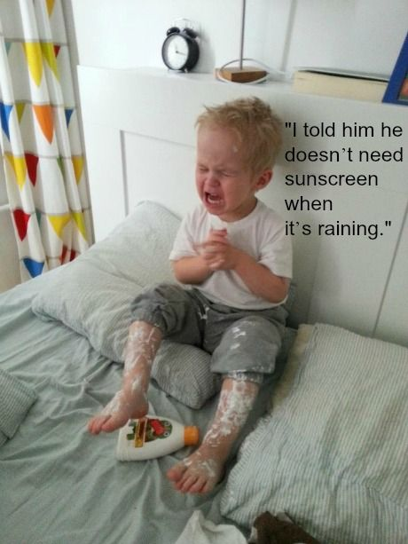 "omg. so funny. ""25 reasons my kid is crying"""