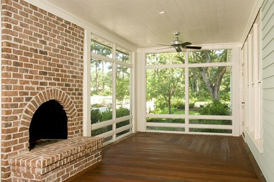 Awesome screened porch with fireplace outdoor patio for Wood burning stove for screened porch