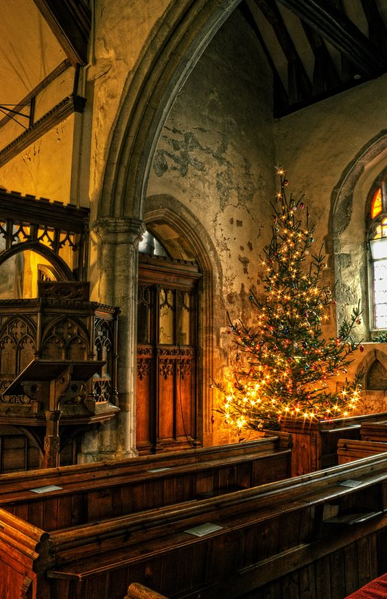 St. Michael's Church at Christmas Time, Hernhill, Kent, England: