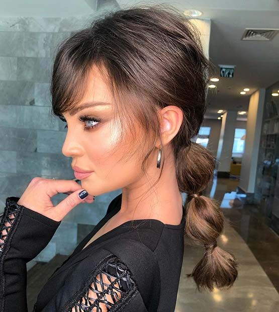 23 Trendy Bubble Ponytail Hairstyles to Try in 2020 | StayGlam